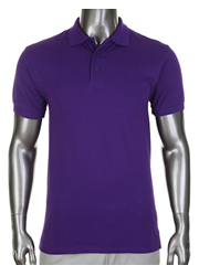 Pro Club Collar Polo Golf Purple T-Shirt