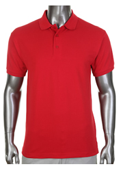 Pro Club Pique Polo Collar / Golf Red T-Shirt