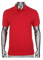 Pro Club Pique Polo Collar / Golf Red T-Shirt