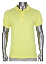 Pro Club Pique Polo Yellow Golf T-Shirt